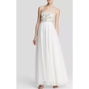 b70902f4 Aidan Mattox Dresses - Aidan Mattox strapless Art Deco beaded bodice gown